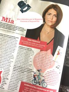 Interview Mia Femmes d'aujourd'hui